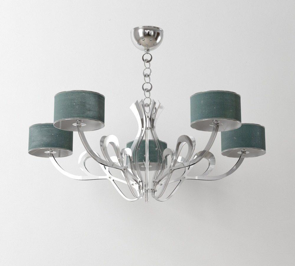 مدل سه بعدی لامپ و لوستر