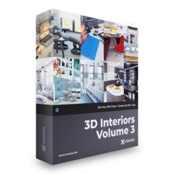 مجموعه مدل سه بعدی صحنه داخلی – ولوم سوم