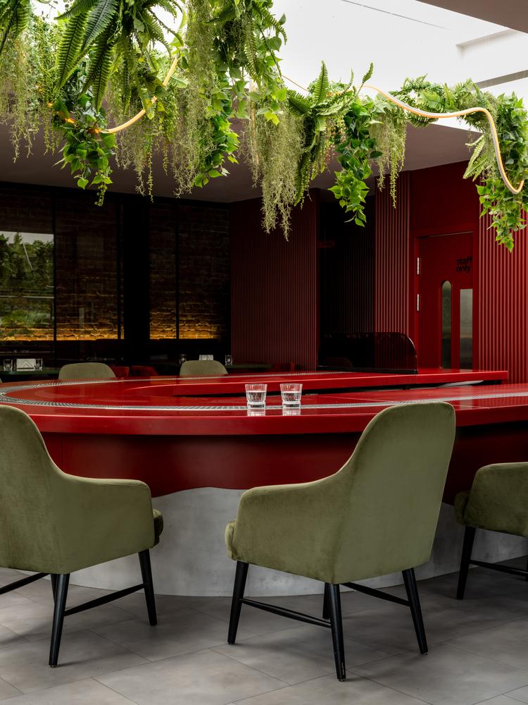 تلفیق سبک های اروپایی و آسیایی در طراحی رستوران
