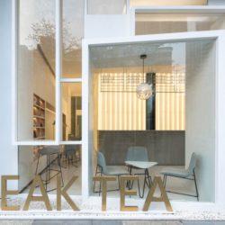طراحی داخلی فروشگاه و کافه چای در چین