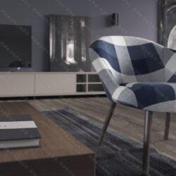 دانلود مدل سه بعدی صحنه داخلی برای کرونا