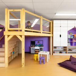 طراحی داخلی مهد کودک با فضایی کاربردی و سرگرم کننده