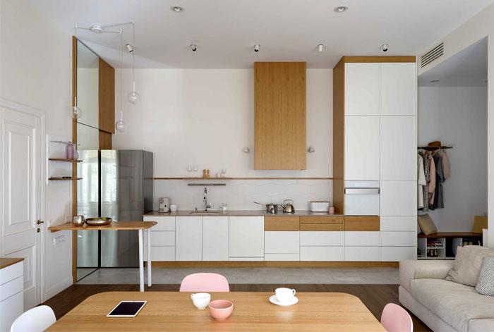 طراحی داخلی آپارتمان مدرن و کارآمد
