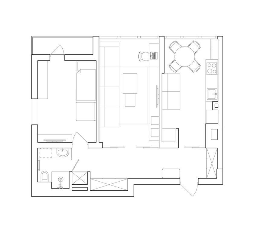 پلان آپارتمان کوچک