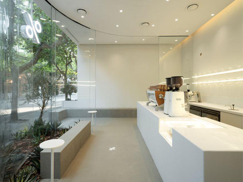 طراحی کافه مینیمال با رویکرد نزدیکی به طبیعت