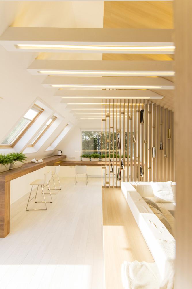 معماری اتاق زیرشیروانی 60 متری