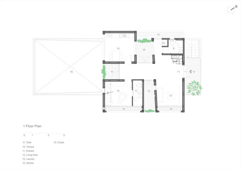 پلان خانه گرمسیری