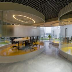 طراحی داخلی دفتر کار شرکت تبلیغاتی Marquis