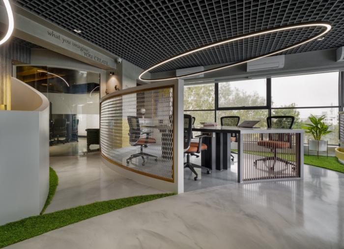 طراحی داخلی دفتر کار شرکت تبلیغاتی