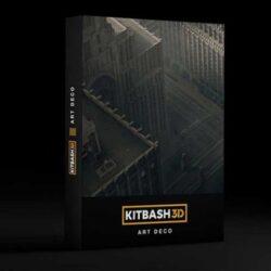 دانلود صحنه آماده ساختمان آرت دکو از Kitbash3D