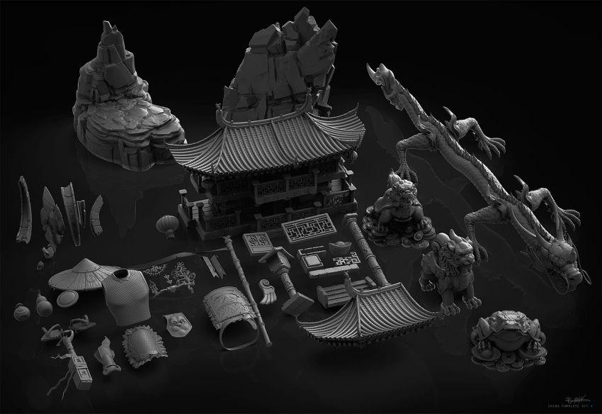 دانلود آبجکت عناصر معماری چینی