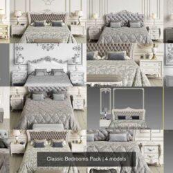 دانلود مدل سه بعدی اتاق خواب کلاسیک