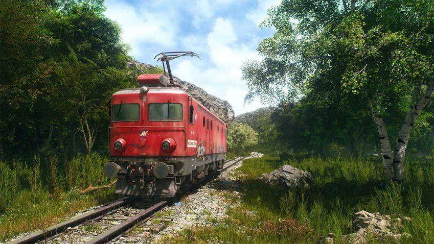دانلود صحنه آماده قطار برقی برای آنریل انجین