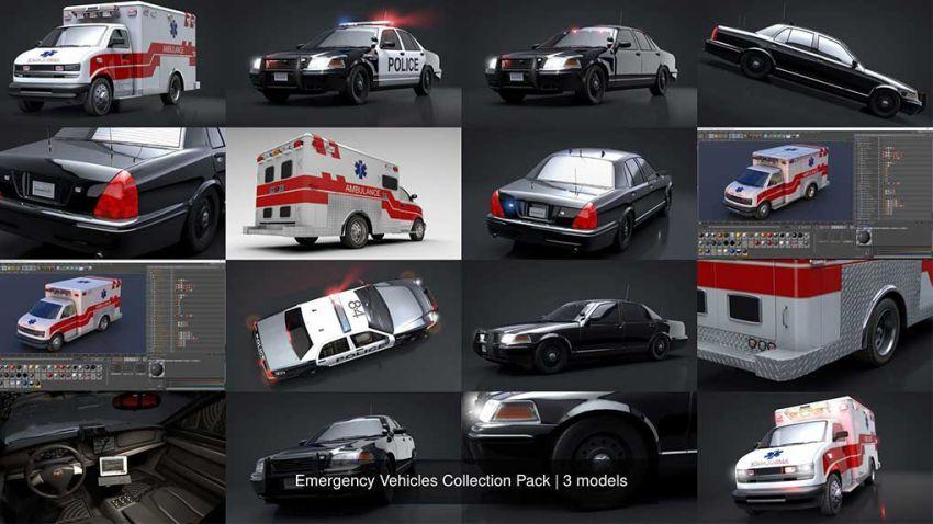 دانلود مدل سه بعدی وسایل نقلیه اضطراری