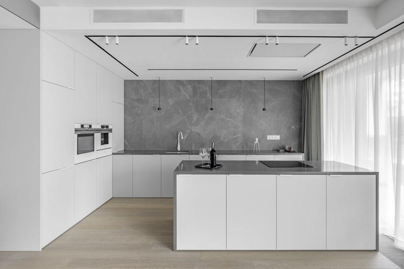 طراحی داخلی آپارتمان خاکستری