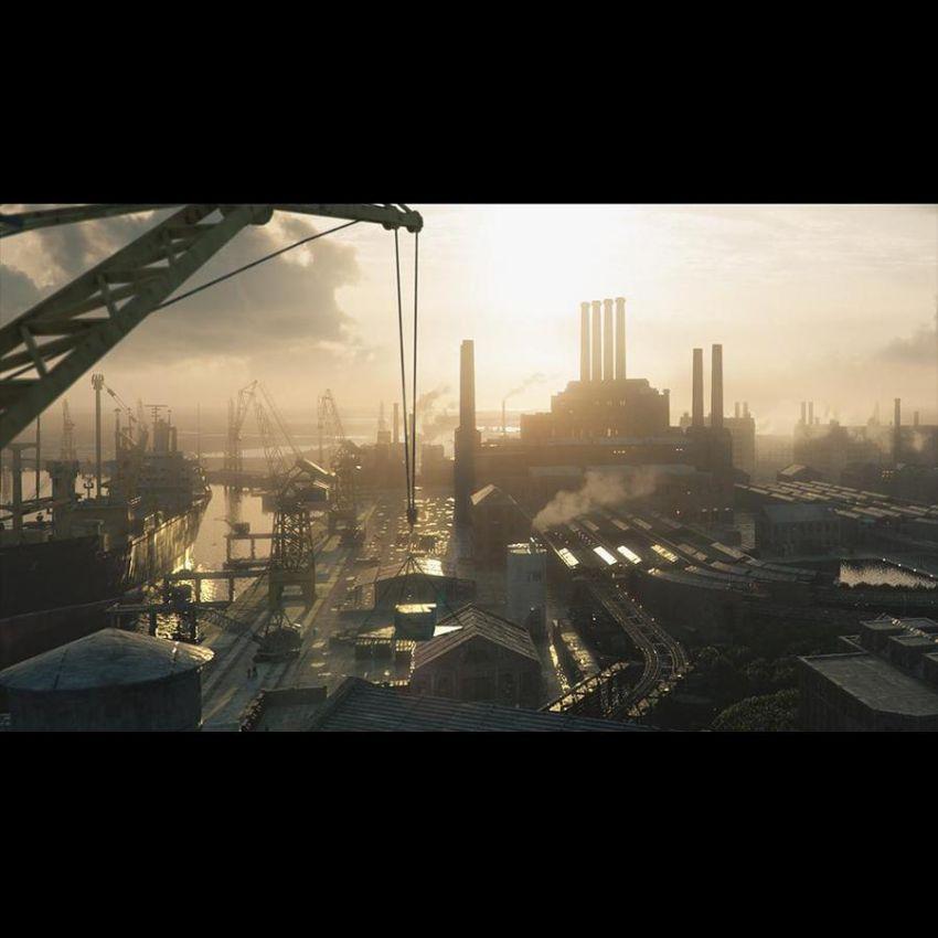 دانلود صحنه آماده کارخانه و محیط صنعتی