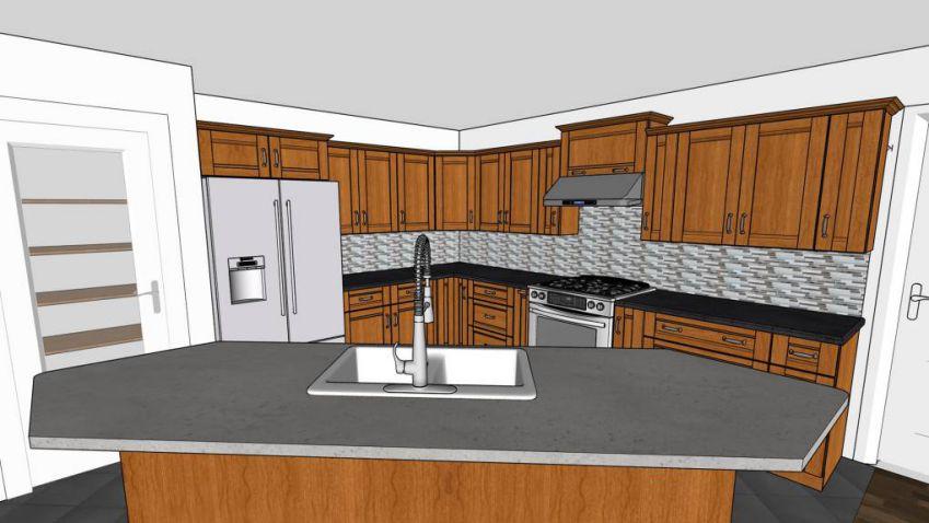 آموزش مدلسازی آشپزخانه در SketchUp