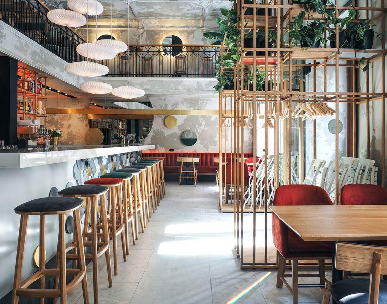 طراحی کافه مدرن آسیایی در روسیه