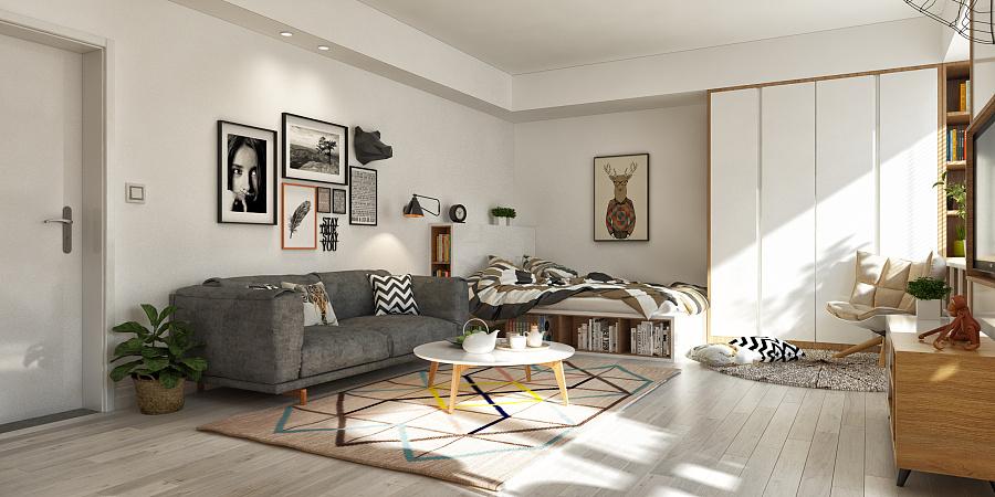 طراحی داخلی آپارتمان با تم خردلی