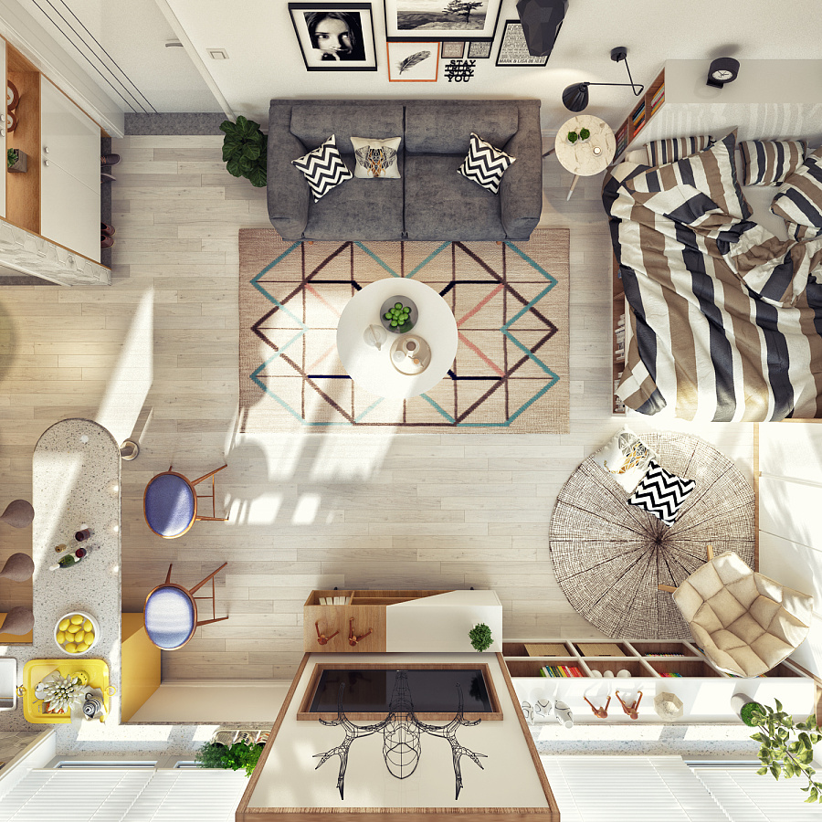 دکوراسیون داخلی آپارتمان به سبک اسکاندیناوی