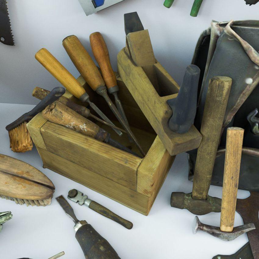 دانلود مدل سه بعدی ابزار آلات قدیمی