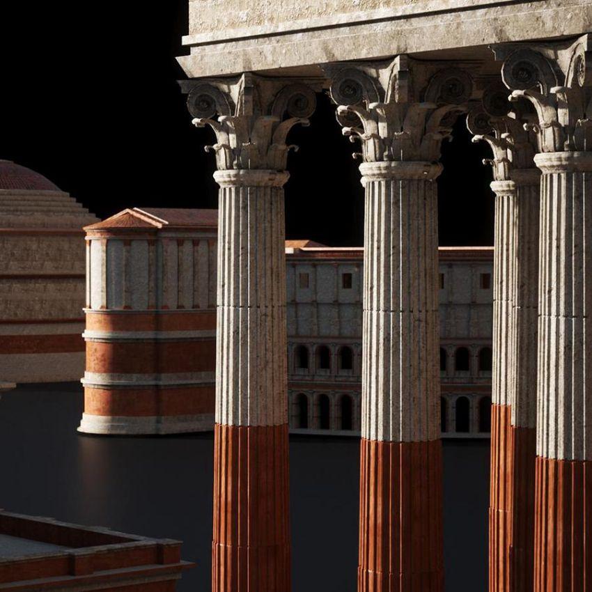دانلود صحنه آماده بناهای روم باستان