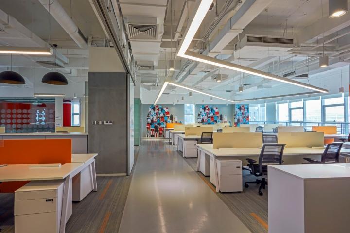 طراحی داخلی دفتر کار شرکت SAP