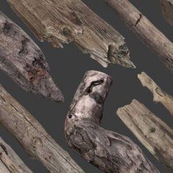 دانلود آبجکت چوب اسکن شده