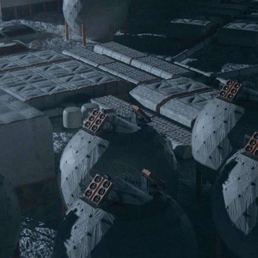 دانلود صحنه آماده پایگاه فضایی
