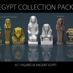 دانلود آبجکت مجسمه مصر باستان