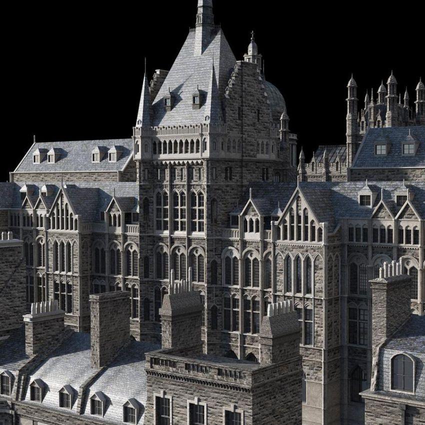 دانلود صحنه آماده ساختمان سلطنتی
