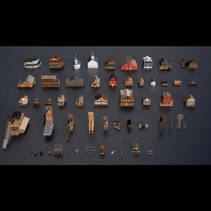 دانلود مدل سه بعدی محیط غرب وحشی
