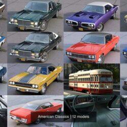 دانلود مدل سه بعدی ماشین کلاسیک آمریکایی