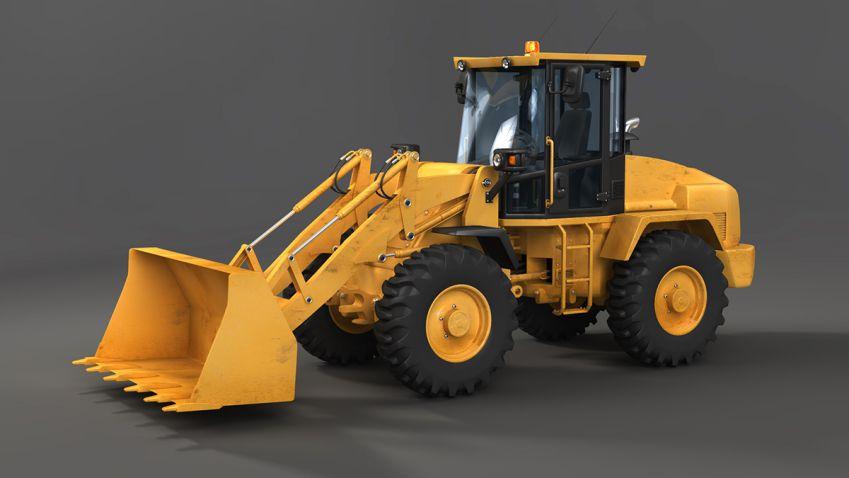 مدل سه بعدی ماشین آلات سنگین