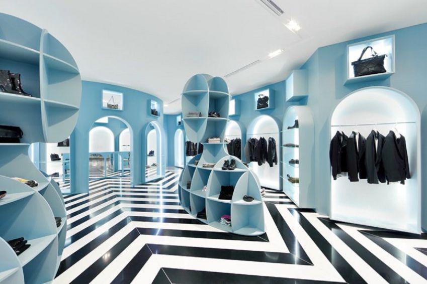 طراحی فروشگاه لباس به سبک ایتالیایی