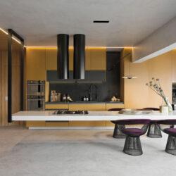 طراحی آشپزخانه با جزیره معلق