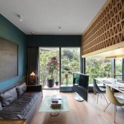 طراحی خانه جنگلی مدرن تنها در 35 متر مربع