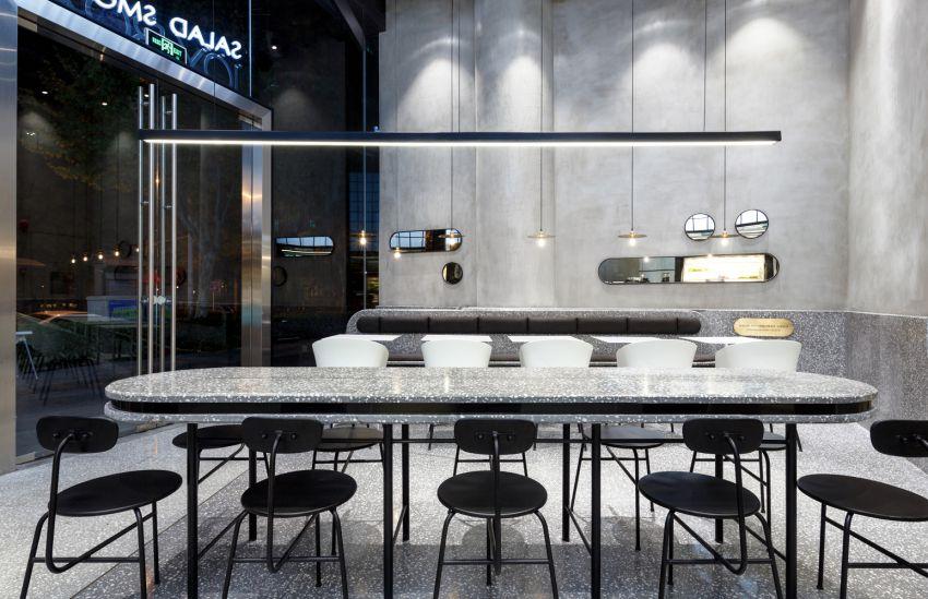 معماری کافه رستوران مدرن داخل پاساژ