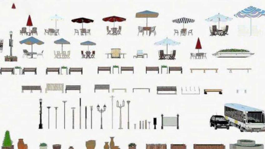 دانلود مدل سه بعدی فضای خارجی معماری