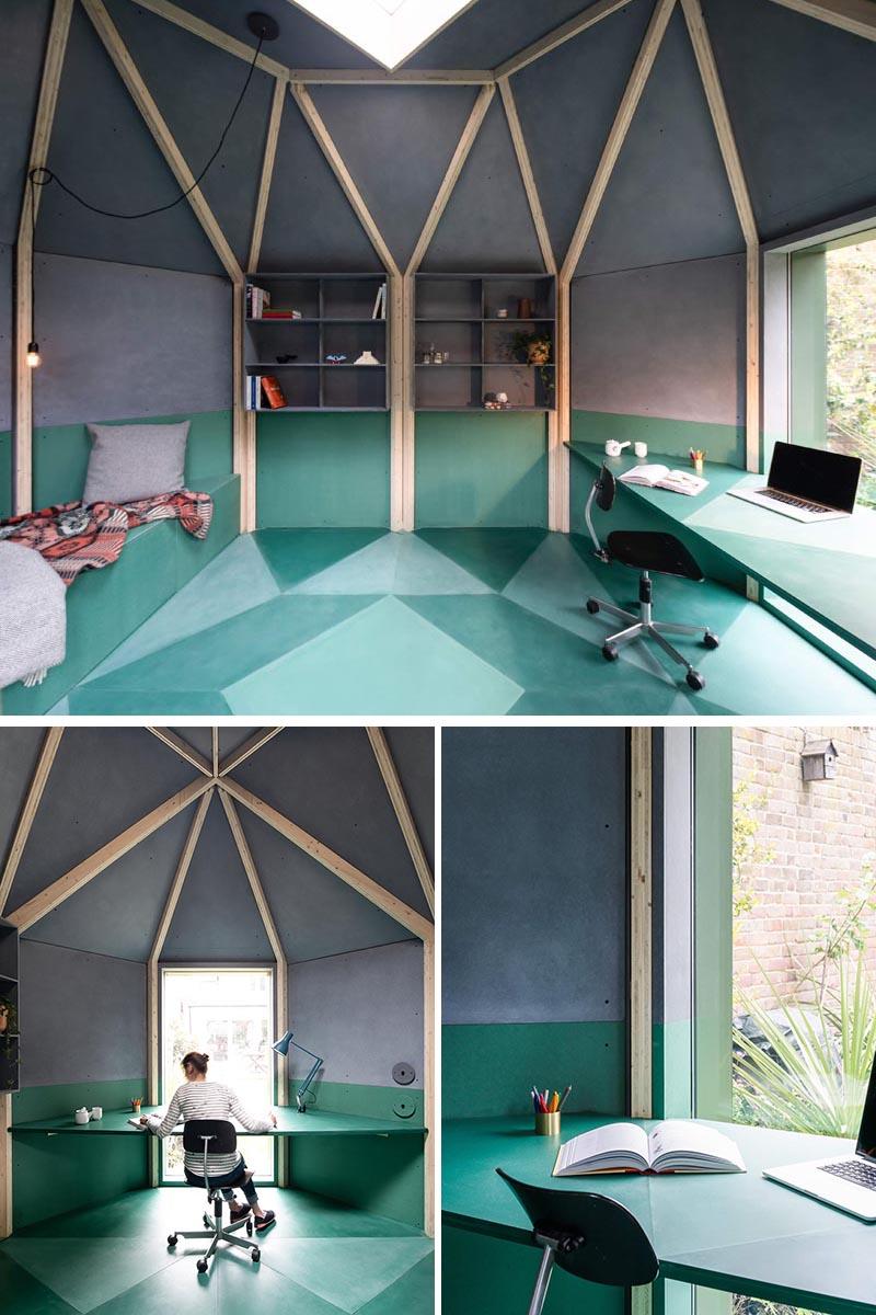 طراحی اتاقک چندمنظوره در حیاط خلوت