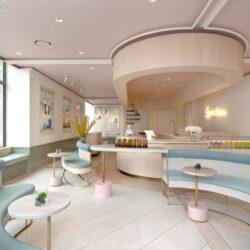 طراحی داخلی فروشگاه و کافه چای در نیویورک