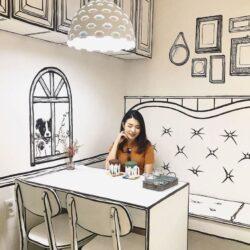 طراحی کافی شاپ کارتونی در کره جنوبی
