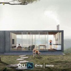 آموزش پست پروداکشن معماری در فتوشاپ