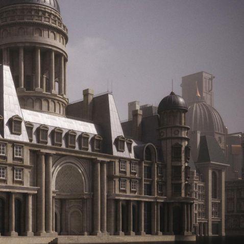 مدل سه بعدی ساختمان و بناهای تاریخی و اشرافی