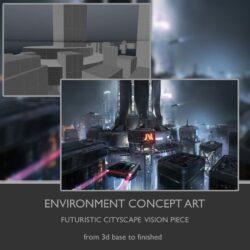 آموزش طراحی کانسپت شهر در فتوشاپ