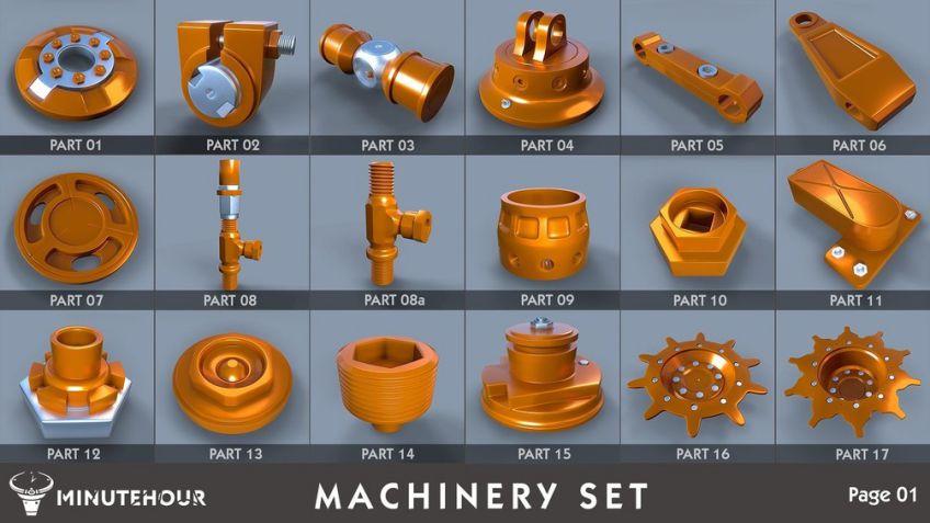 مدل سه بعدی قطعات ماشین آلات