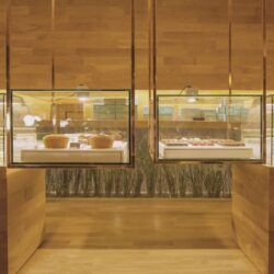 طراحی کافه قنادی مینیمال