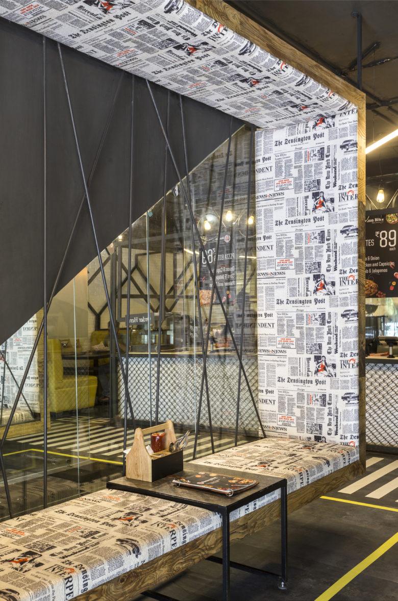 طراحی کافه شهری مدرن
