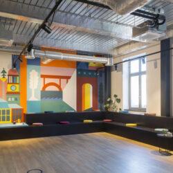 طراحی دفتر کار رنگارنگ در آلمان