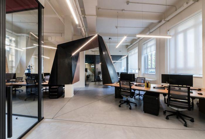 طراحی دفتر کار شرکت ردبول